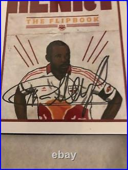 Thierry Henry Signed Autograph Flipbook Ball France Arsenal Legend Nyrb Red Bull