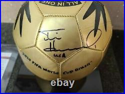 Tim Howard 2014 FIFA World Cup Brazil autographed soccer ball JSA Cert