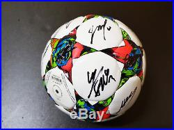 UEFA CL FINALE BERLIN 2015 FC BARCELONA Treble Signed Official Ball+COA