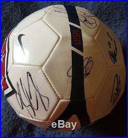 USA MENS SOCCER TEAM AUTOGRAPHED SIGNED NIKE BALL with TIM HOWARD CLINT DEMPSEY