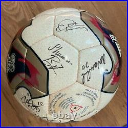 USA Women's 2003 World Cup Autographed Team Match Soccer Ball Hamm Chastain