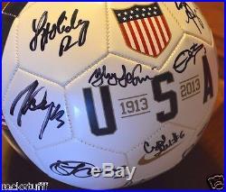 USA Women's World Cup Soccer Signed Ball Abby Wambach Alex Morgan Hope Solo +15