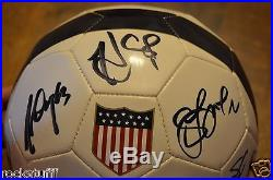 USA Women's World Cup Soccer Signed Ball Alex Morgan Abby Wambagh Hope Solo +15