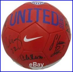 USA Womens Soccer Autographed Nike Soccer Ball Lloyd Solo +7 JSA 14012