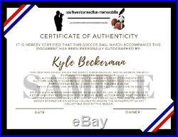 USMNT Kyle Beckerman Real Salt Lake Signed Autographed USA Soccer Ball Proof COA