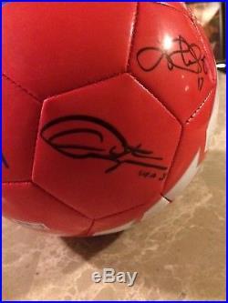 USWNT 2015 World Cup Signed USA Supporters Soccer Ball Morgan, Harris, Rapinoe