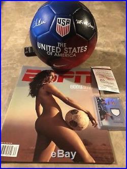 USWNT Christen Press Signed Soccer Ball Press Lot JSA Authenticated