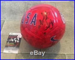 USWNT USA Soccer Women's Signed Soccer Ball (Morgan Pugh, Long) JSA COA RARE