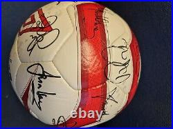 Umbro neo 2 Soccer Aid match ball signed by teams fifa approved