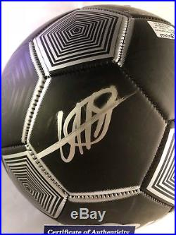 Usain Bolt Hand Signed Mitre Soccer Ball Fastest Man PSA DNA Cert