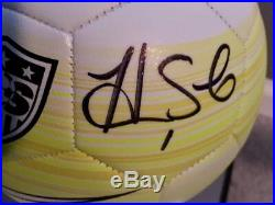 Uswnt Wambach Solo Press Signed Nike USA Three Star Ball W Coa
