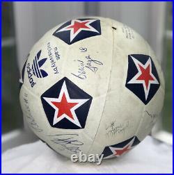 Vintage 1978-1982 NASL Portland Timbers Signed Soccer Ball SB4000 Adidas ARMY OR