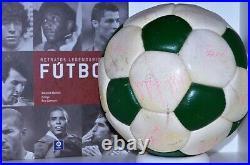 Vintage Leather Football1970 Signed Real Madrid