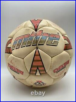 Vintage Mitre Delta Cosmic Football Ball Signed Aberdeen FC Squad 1987 / 1988