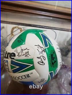 Vtg San Jose Clash Earthquakes Mls Signed Soccer Balls Nike Doyle Cerritos