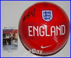 WAYNE ROONEY signed (ENGLAND) MANCHESTER UNITED PROOF DC Soccer ball JSA