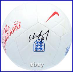 Wayne Rooney England National Team Signed White Nike England Logo Soccer Ball