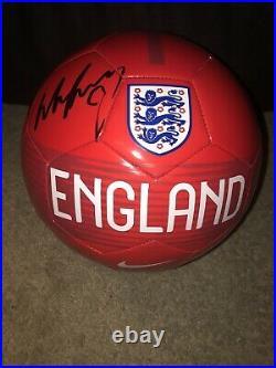 Wayne Rooney Signed Autographed England Logo Full Size Soccer Ball Jsa Coa