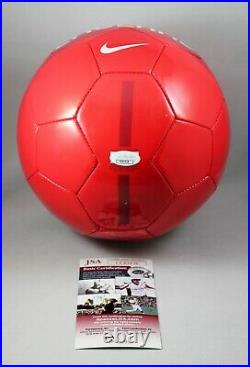 Wayne Rooney Signed England Soccer Ball Nike Manchester United Auto +jsa Coa