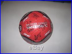 Western Wanderers A-League team (2015/16) team signed soccer ball + COA / Proof