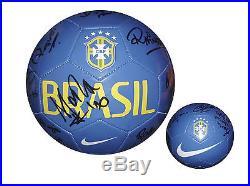 Womens Marta Brazil Futbol Team Autographed Ball W-COA