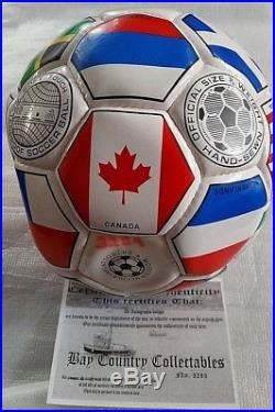 World Cup Soccer Ball Signed by PELE NEW