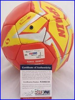 XAVI XAVIER HERNANDEZ SIGNED SPAIN SOCCER BALL WORLD CUP PSA/DNA ITP