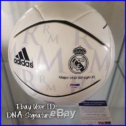 Zinedine Zidane Signed Iker Casillas Signed Real Madrid Ball Psa/dna