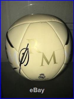 ZINEDINE ZIDANE SIGNED REAL MADRID SOCCER BALL WORLD CUP FRANCE SIGNED PSA e