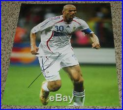 Zinedine Zidane Signed 11x14 France National Soccer Team Photo with proof