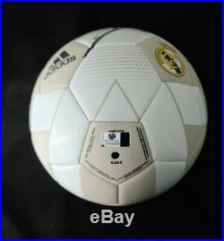 Zinedine Zidane Signed Autographed Adidas Size 5 Soccer Ball with COA and Case