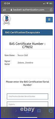 Zinedine Zidane Signed Ball Real Madrid Signed Ball Bas Coa 2