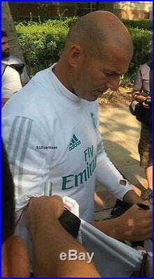 Zinedine Zidane Signed Nike Soccer Ball Real Madrid France with proof