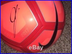 Zinedine Zidane Signed Nike Soccer Ball with exact proof