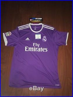 Zinedine Zidane Signed Real Madrid Jersey World Cup France Winner Signed Bas Coa
