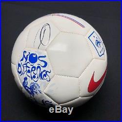 Zinedine Zidane & Theirry Henry Signed Nike'France' Soccer Ball BAS E19050