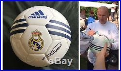 Zinedine Zidane signed soccer ball Real Madrid photo exact proof France French