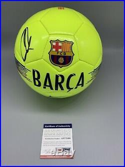Zlatan Ibrahimovic Barcelona Autographed Soccer Ball Size 5 PSA Certified