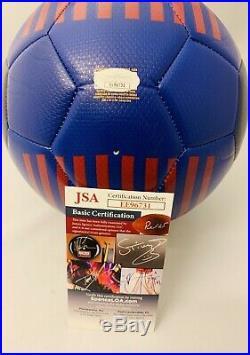 Zlatan Ibrahimovic Signed Barcelona Soccer Ball Psg Milan Sweden Auto+jsa Coa